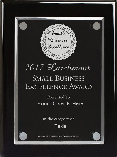 Your Driver Is Here gets 2017 Larchmont Small Business Excellence Award